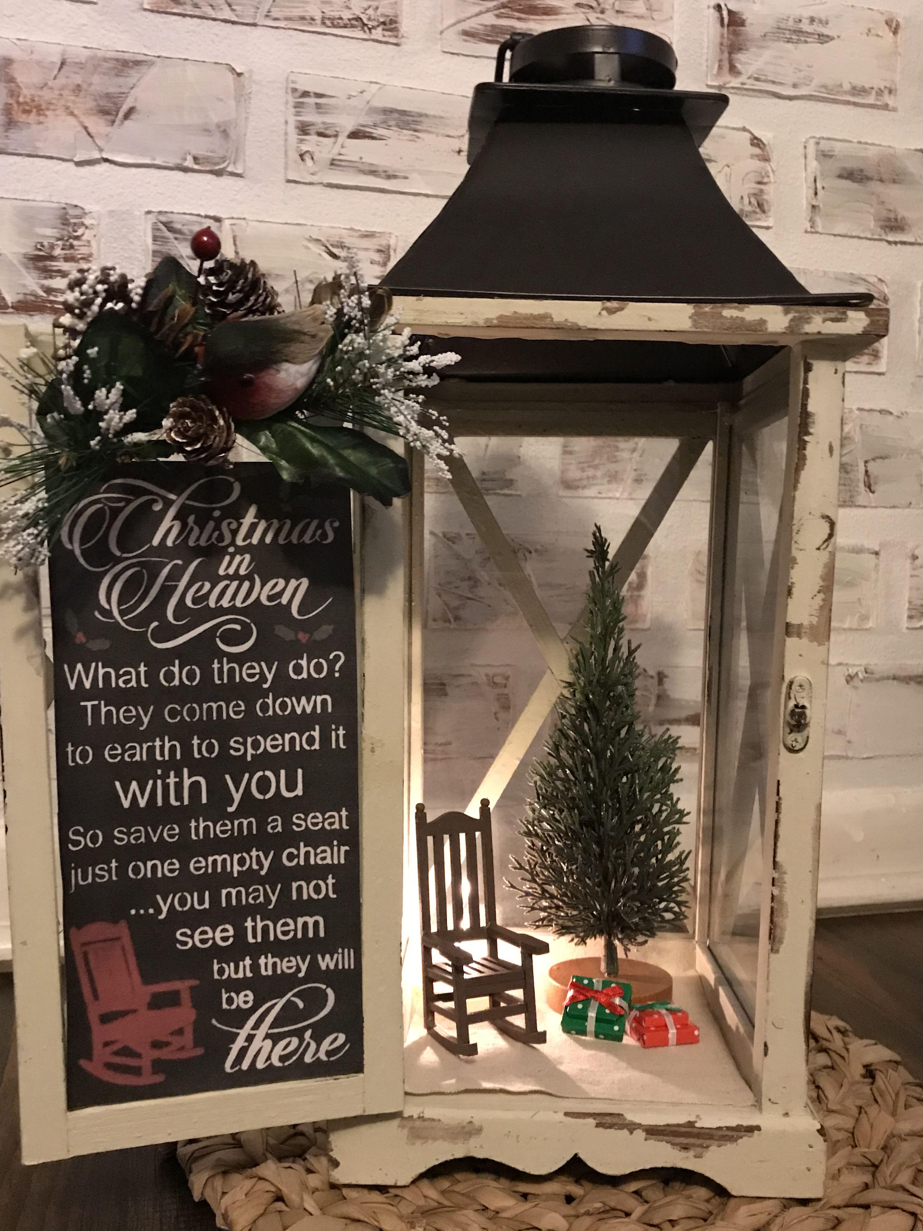 Christmas In Heaven Lantern Diy.Pin By Suzette Fisher On Christmas Christmas Lanterns