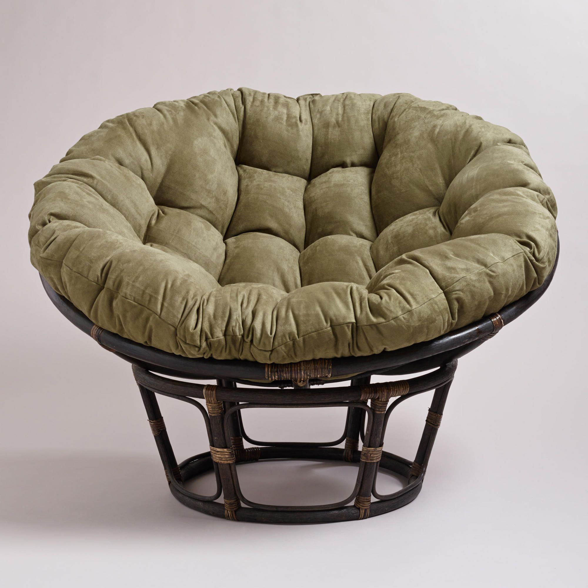 Olive Porcelain Or Ivory Papasan Chair Cushion World Market Papasan Chair Papasan Chair Cushion Outdoor Papasan Chair