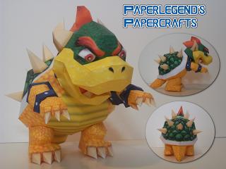 Paperlegend S Papercrafts Super Mario 64 Bowser