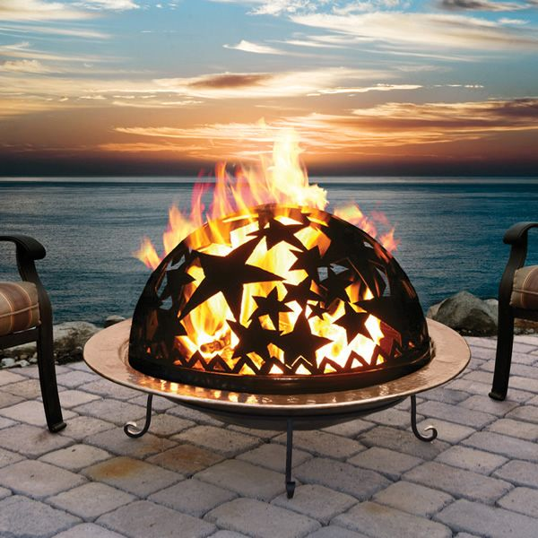 Starry Night Copper Fire Dome Fire Pit from Woodland Direct. See All of our  Fire - Starry Night Copper Fire Dome Fire Pit From Woodland Direct. See All