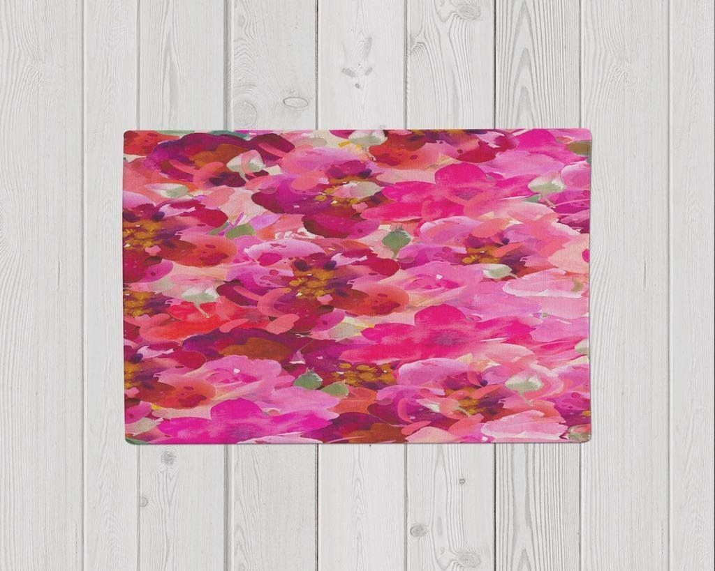 Watercolor floral collage
