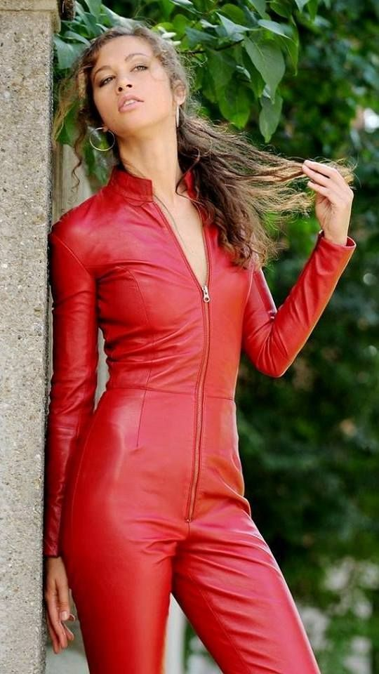 72 Best Images About Stuff I Like On Pinterest: Princess Fatale In Red Leather Jumpsuit