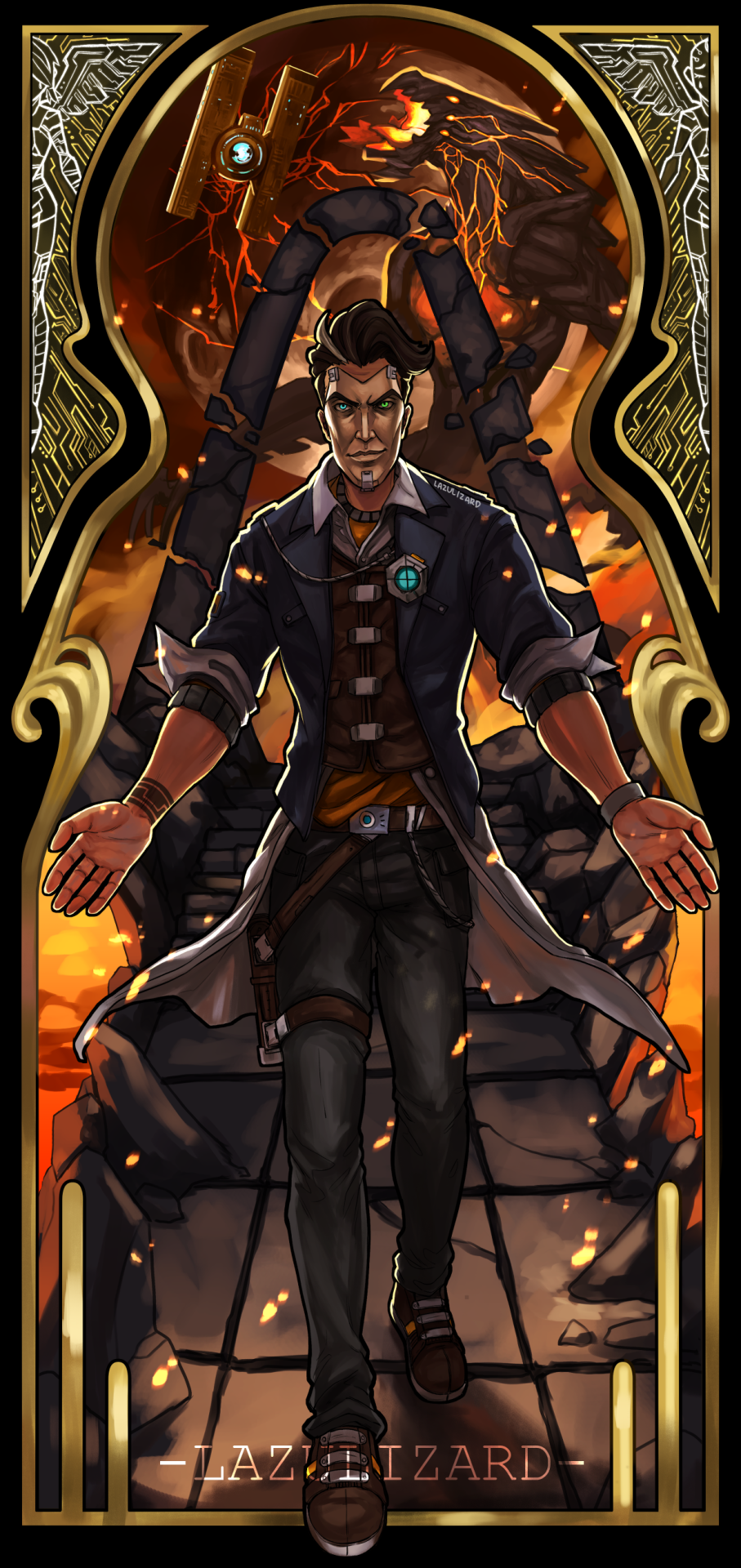Troy Calypso Protection Squad In 2020 Handsome Jack Borderlands Handsome Jack Borderlands