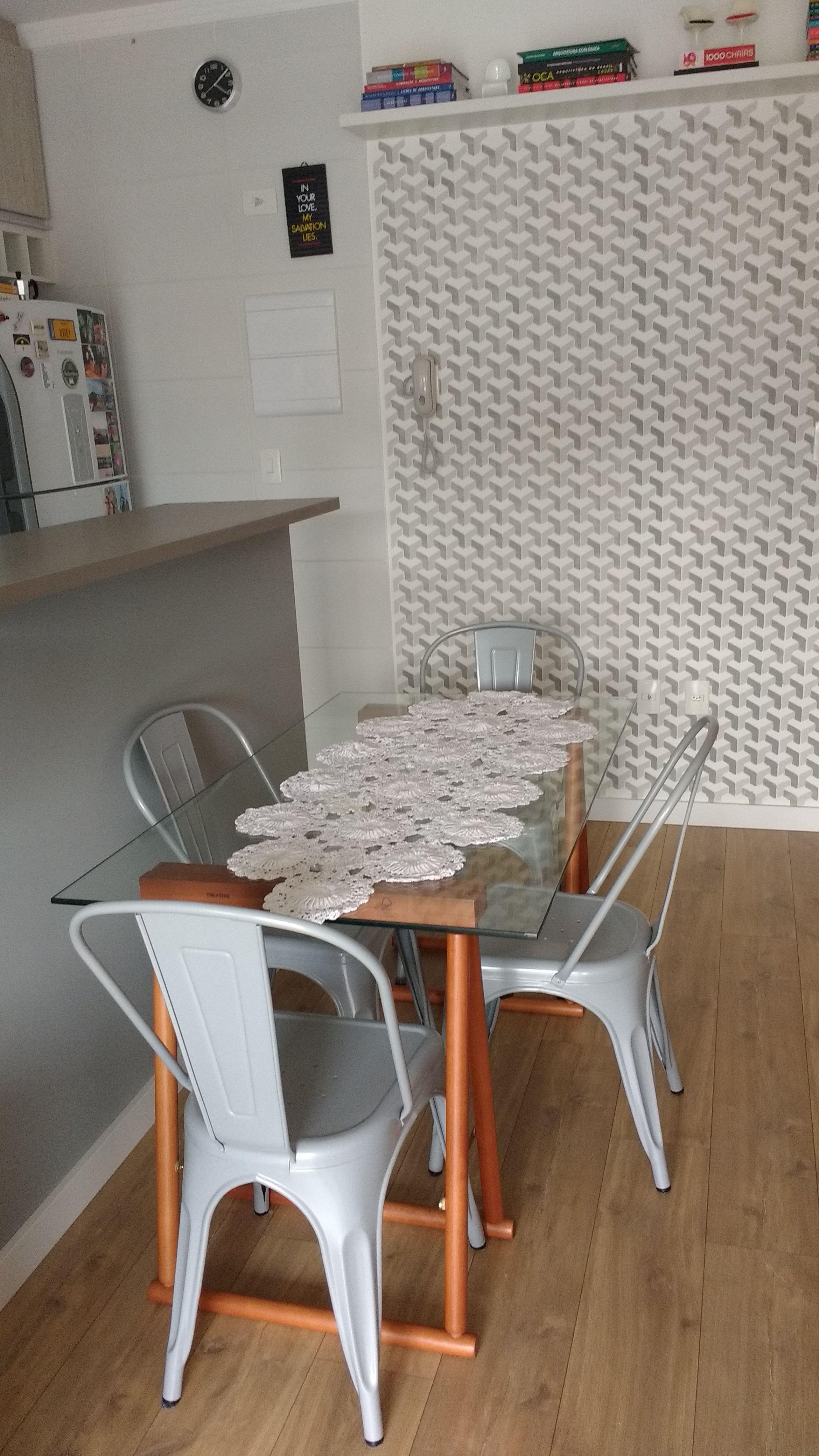 Sala De Jantar Cozinha Americana Prateleira Superior Cadeira