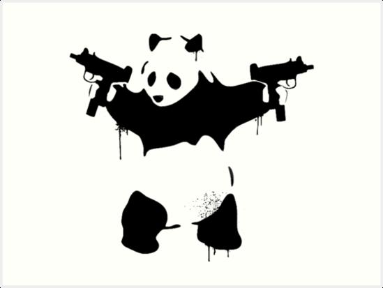 Bad Panda Art Print By Gerhulk In 2021 Panda Art Panda Artwork Scary Art