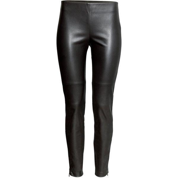 îmbrăcăminte sport de performanță site de renume cumpărare ieftin H&M Imitation leather trousers ($11) ❤ liked on Polyvore featuring pants,  jeans, bottoms, trousers, calças… | Leather trousers, Leather pants, Black  slim fit pants