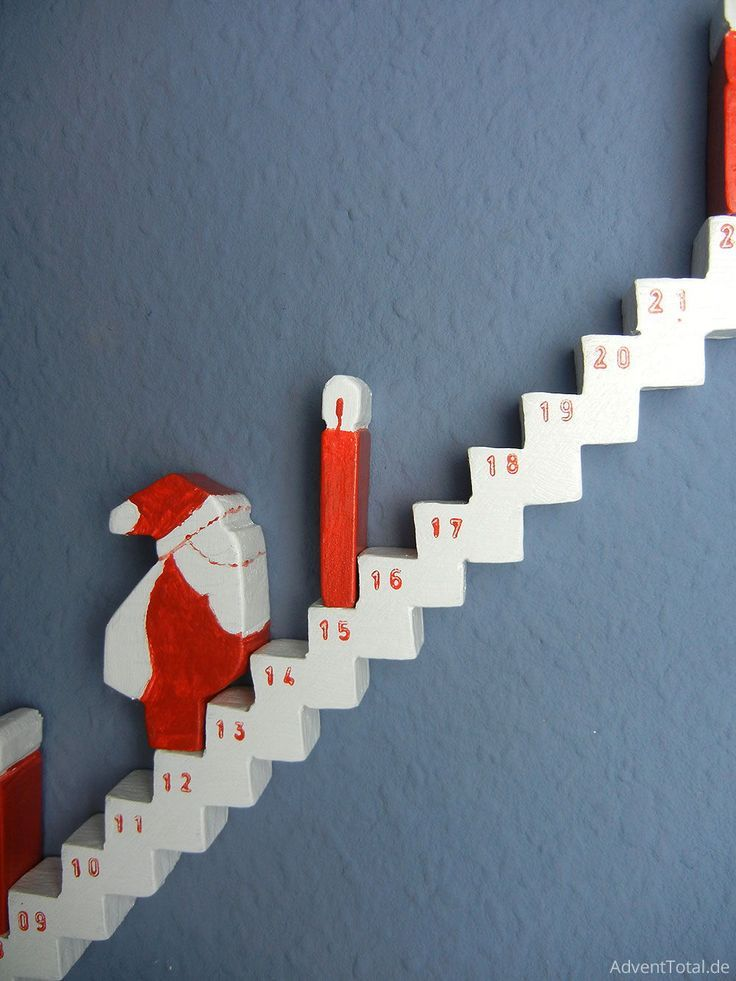 Close up of a wooden advent calendar for DIY Close up of a wooden advent calendar for DIY - -