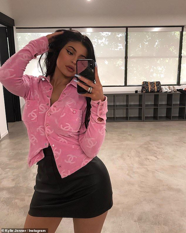 Kylie Jenner and mom pose in matching leather look