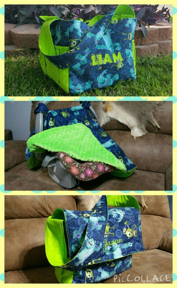 Monsters Inc Mike And Sully Diaper Bag Canopy Or By Shays