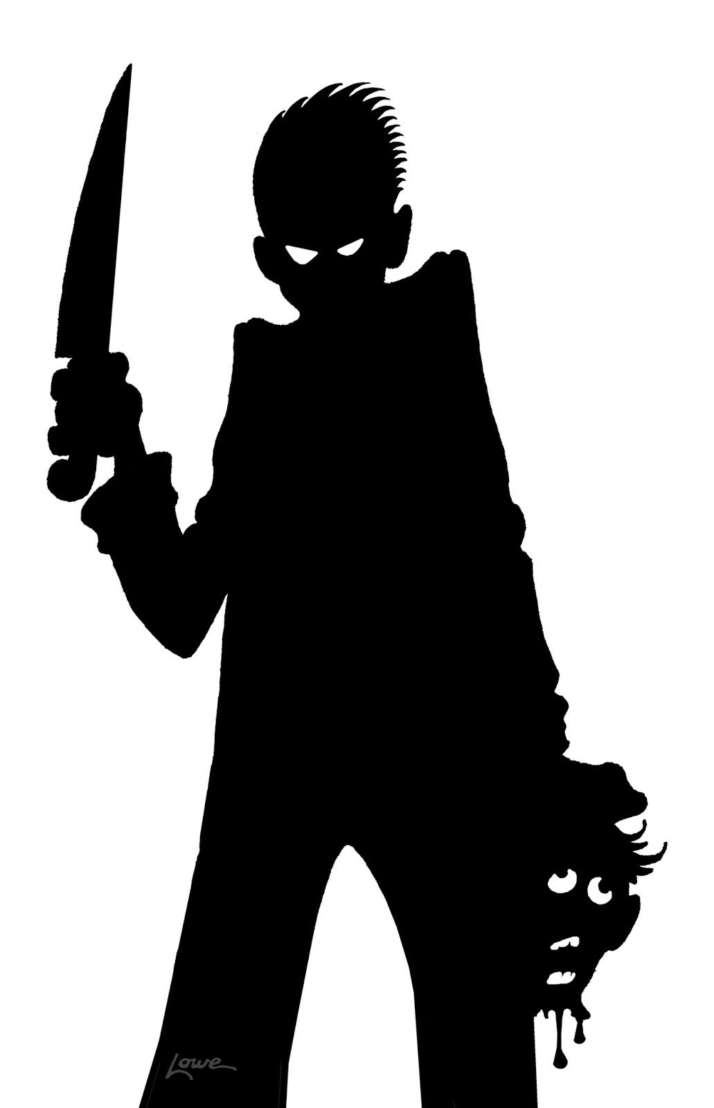 picture relating to Printable Halloween Window Silhouettes called DAVE LOWE Style the Weblog: Maniacal Window Silhouette