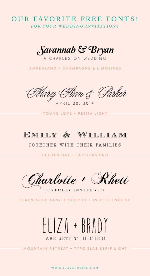 free font combinations for wedding invitations! CLICK THIS LINK AND ...