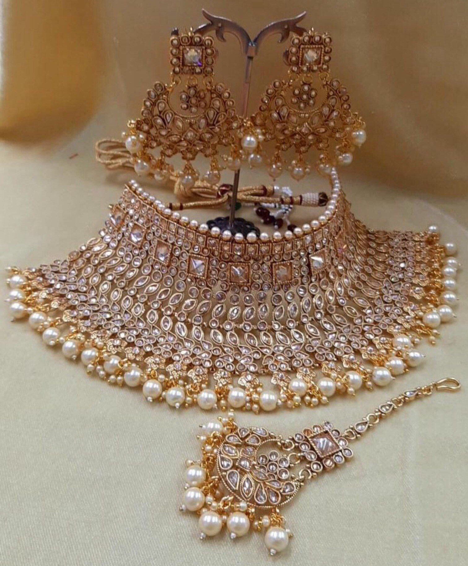 Amani Crystal Collection Classic Indian Bridal Jewellery Sets Indian Bridal Jewelry Sets Indian Wedding Jewelry Sets Bridal Jewellery Indian