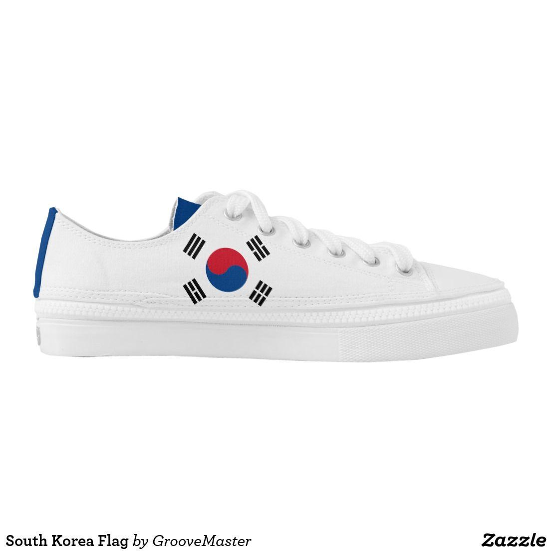 South Korea Flag Low-Top Sneakers