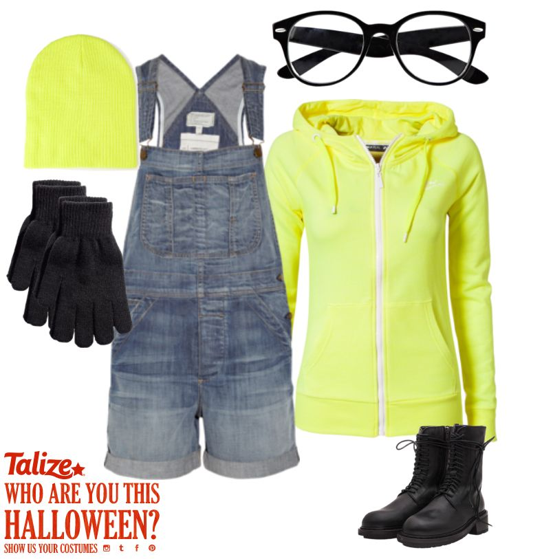 """""""WHAAAAT!?"""" Be your own little Minion this year with help from Talize!  This is a great DIY costume for everyone in the family! Grab a Yellow hoodie, Beanie, throw on some overalls and find a great pair of specs or goggles then customize with logos and your own hair doo and Voila! Show us how they turned out on Instagram #TalizeHalloween!"""