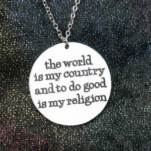 Atheist pendant featuring quote from thomas paine the world is my atheist pendant featuring quote from thomas paine the world is my country and to aloadofball Choice Image