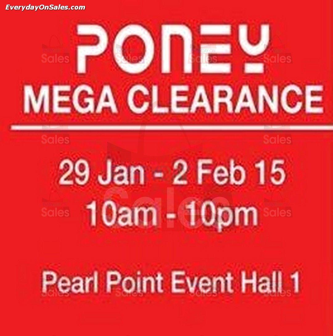 29 Jan-2 Feb 2015: Poney Mega Clearance Sale Event for Kids Apparels Discounts at Old Klang Road