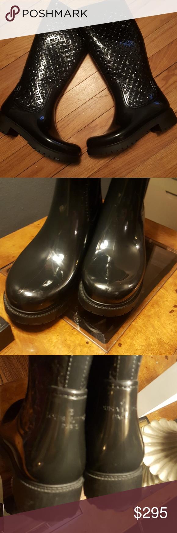 ac7fa5afd0a Louis Vuitton Monogram Rubber Rain Boots in 2018