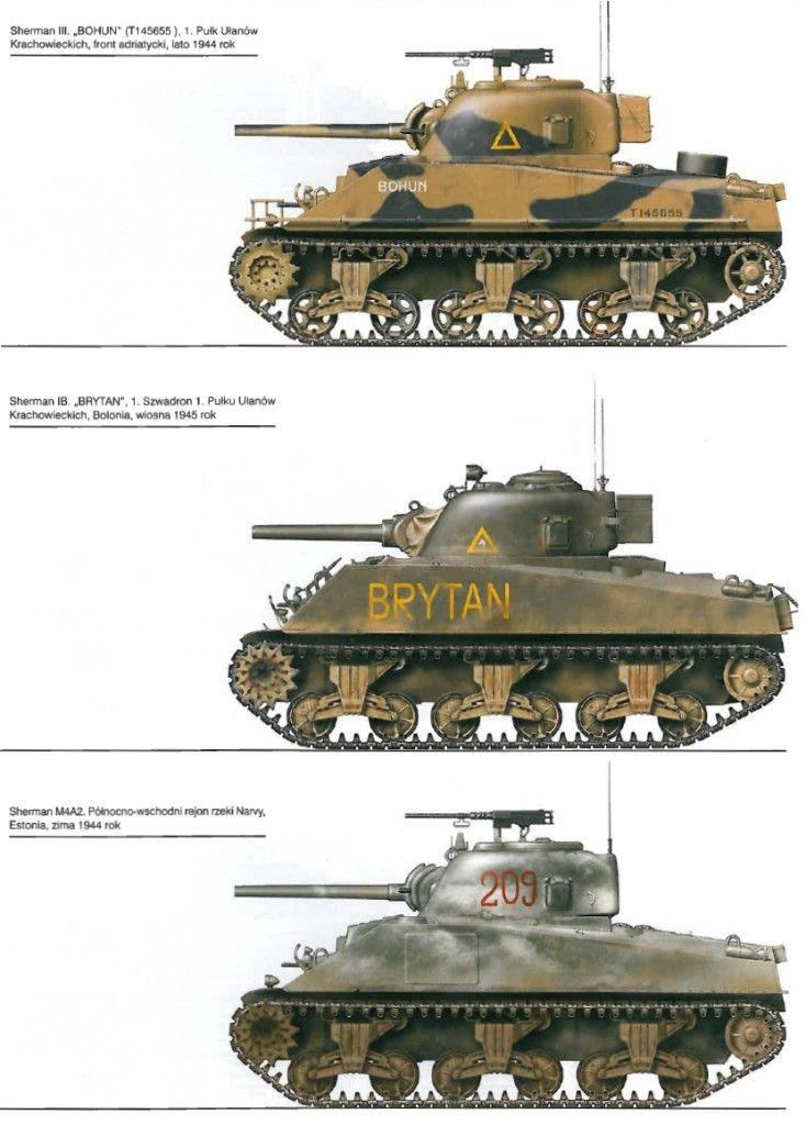 Sherman variants 1944-45 | Armored vehicles | Ww2 tanks