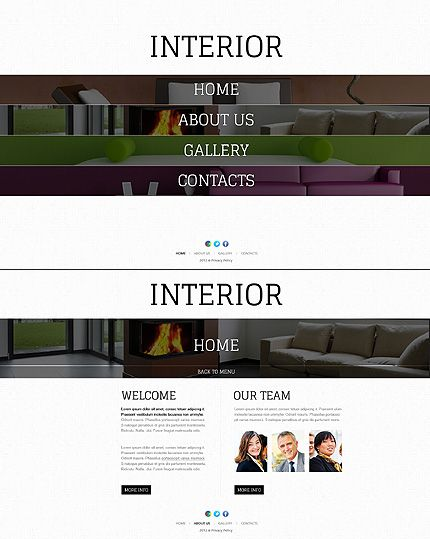 Template 41294   Unique Interior Design Single Page HTML5 Website Template