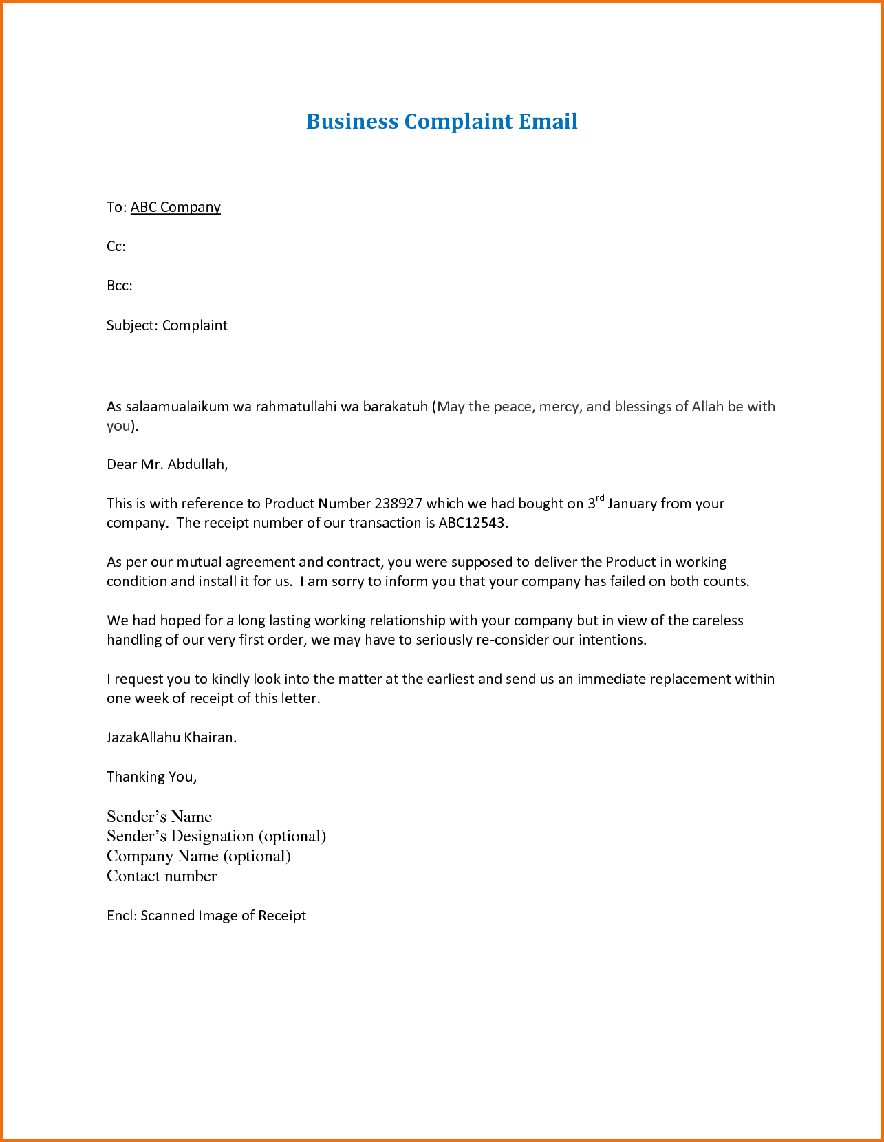 Letter For Corrected Claim Duplicate Appeal Correcting Invoice