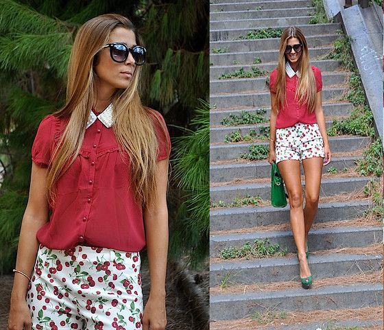 Chic Wish Sunglasses, Lovelix Collar, Romwe Shorts, Vj Style Bag, Zara Heels