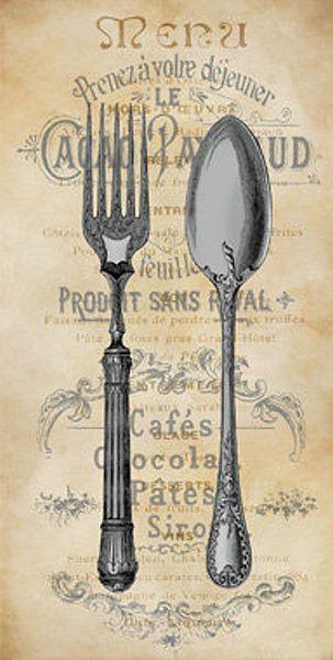 Deborah+Devellier+Cuisine+I+Fertig-Bild+50x100+Wandbild+Küche+ - wandbilder für die küche