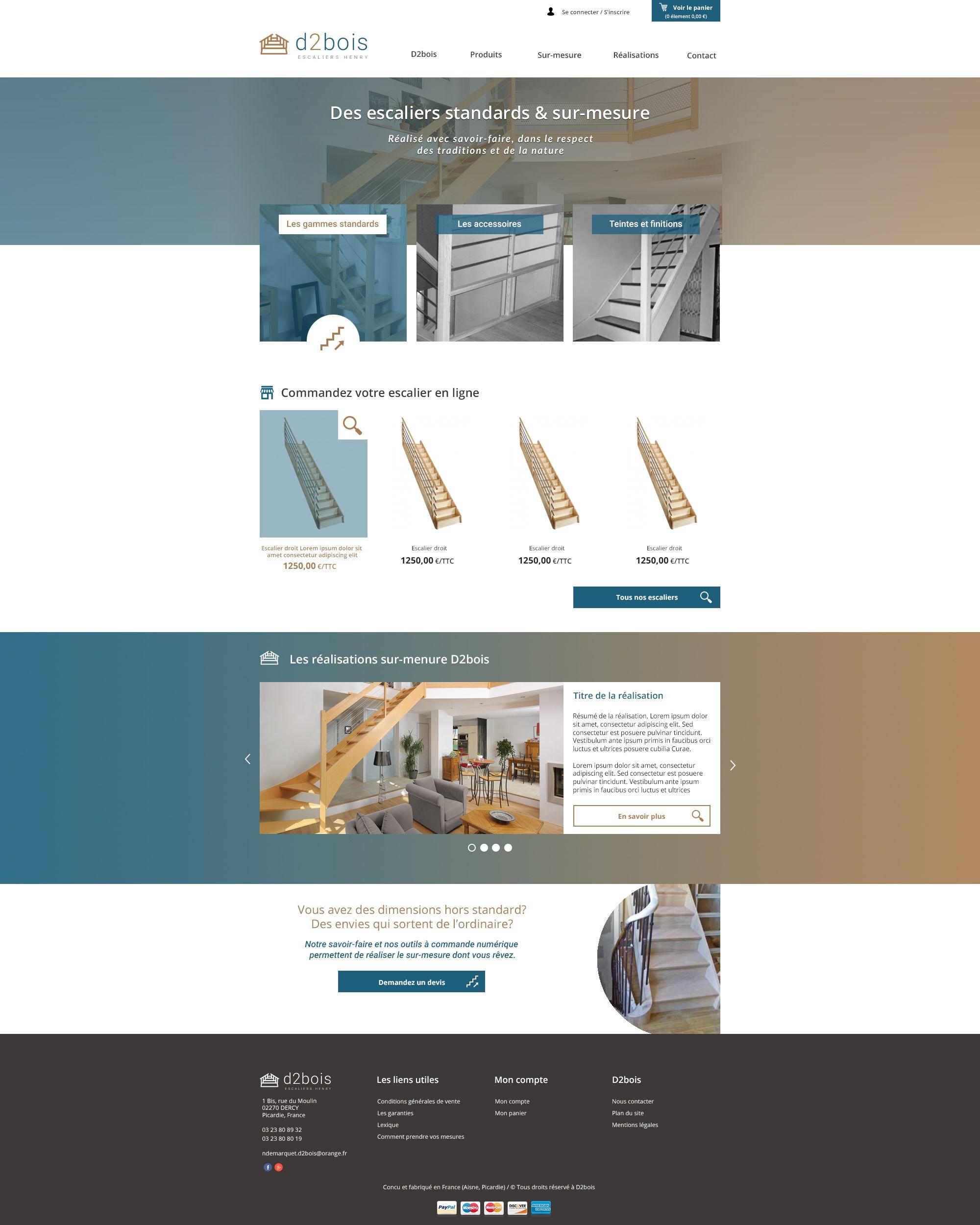 Cr ation du site internet de l 39 entreprise d2bois for Idee entreprise internet