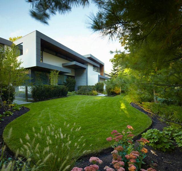 Maison design moderne avec beau jardin à Toronto | Jardin moderne ...