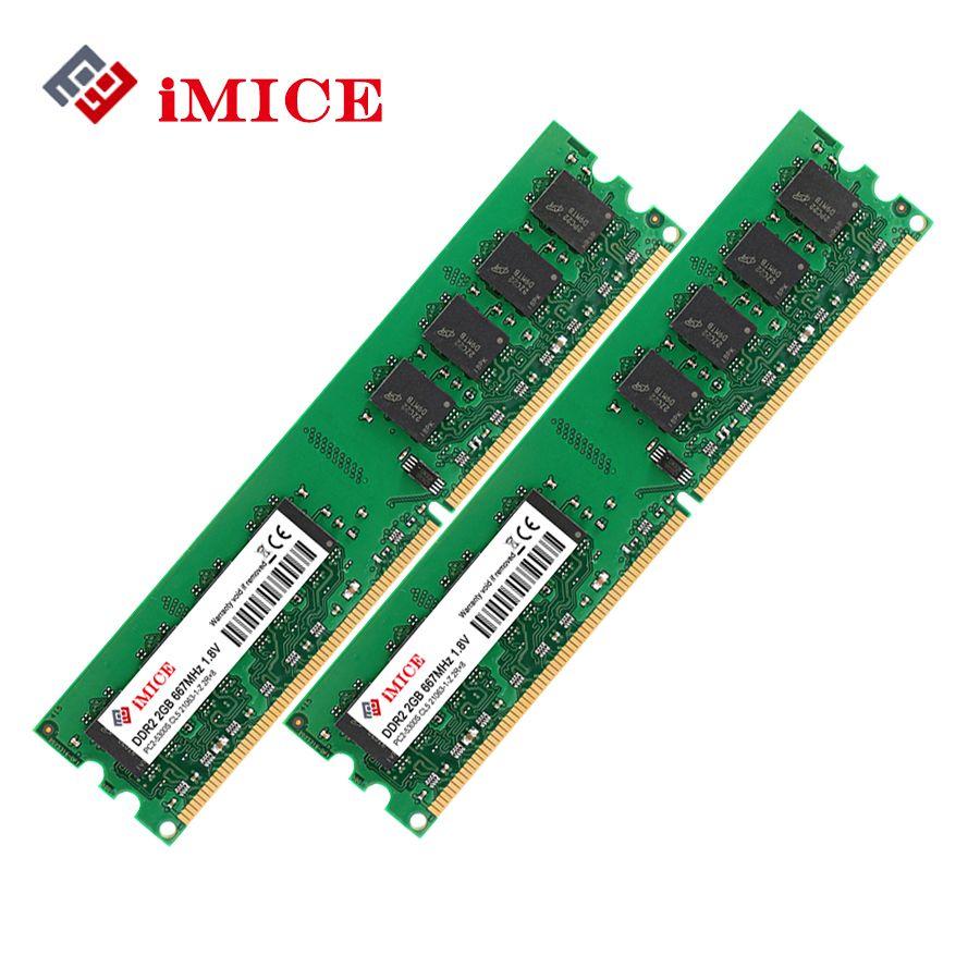 Snoamoo Desktop Pc Rams Ddr2 4gb2x2gb 800mhz Pc2 6400s 240 Pin 18 Sodimm 2gb Imice Ram