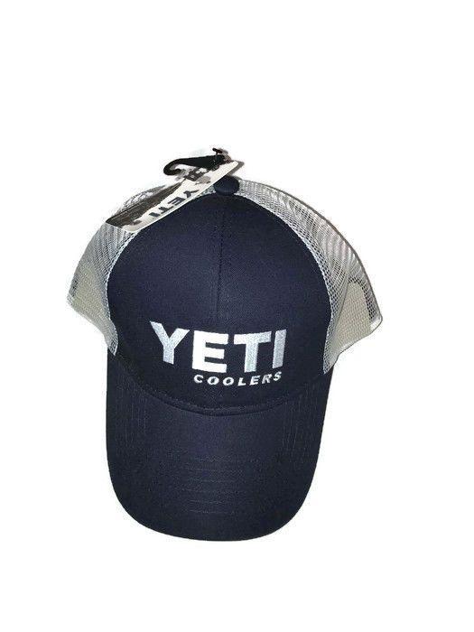 10b7d4f1bc4af Yeti Hat Coolers New Trucker Blue Logo  CAP