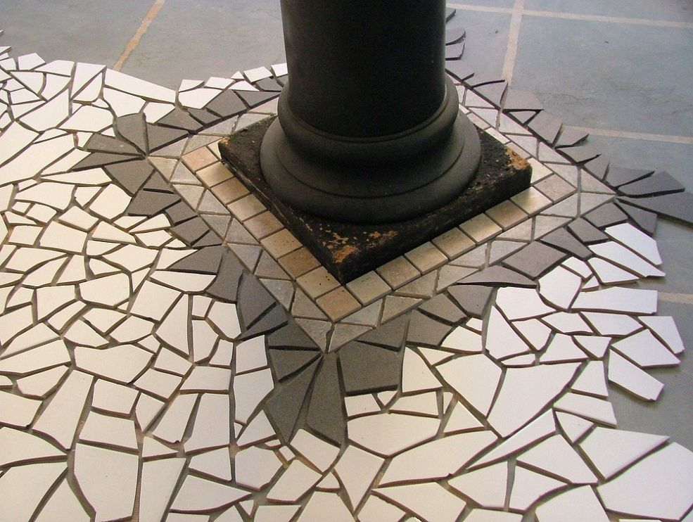 Another section of a mosaic floor design