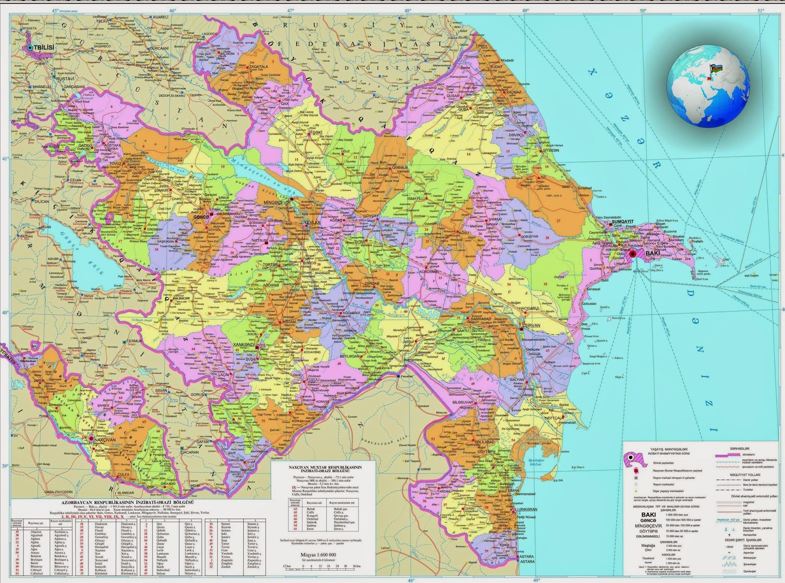 Azerbaycanin Xeritesi Bing Images Map Detailed Map City