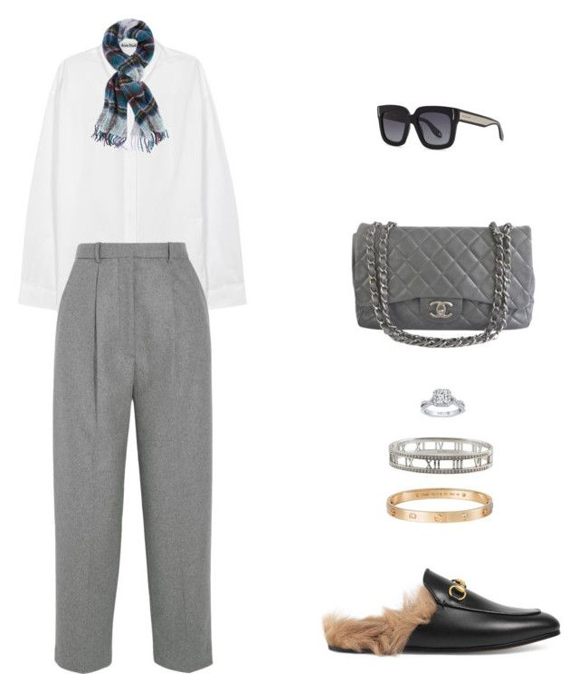 """Street Style"" by julieselmer on Polyvore featuring Acne Studios, Chanel, Gucci, Holzweiler, Givenchy, Tiffany & Co. and Cartier"