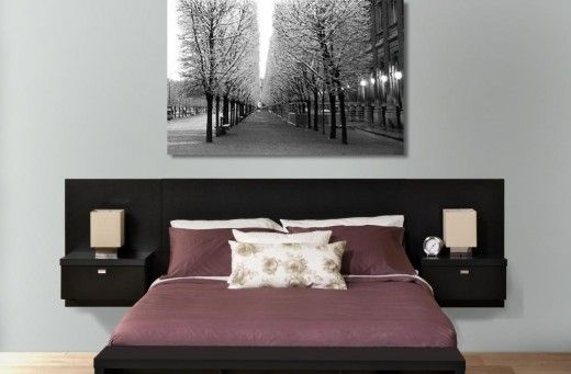 Headboard With Attached Nightstands Floating Headboard Bedroom