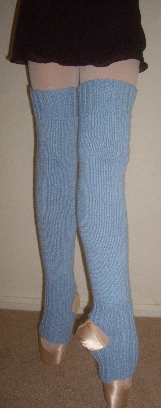 How to Knit Leg Warmers for Ballet Dancers - Free Pattern