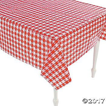 These Red And White Checkered Tablecloths Look Like They Just Fell