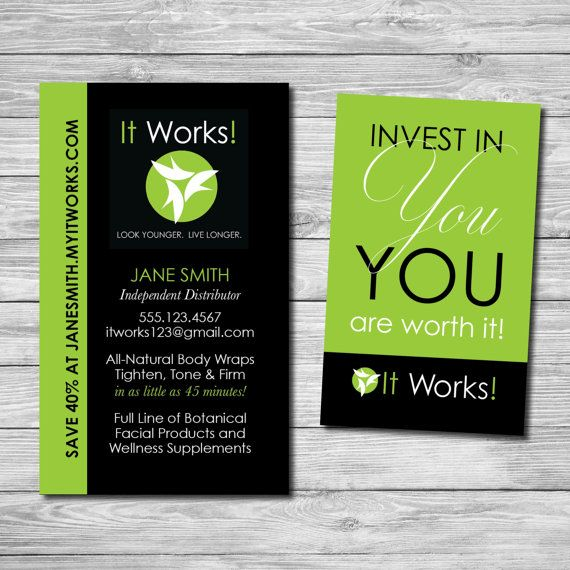 whether youre new to it works or a seasoned veteran distributor fabulous business cards - It Works Business Cards
