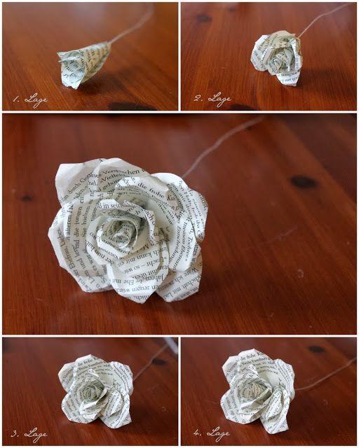 Paper Rose - Wedding DIY #paperflowerswedding