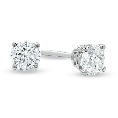 Yellow Diamond Stud Earrings Zales