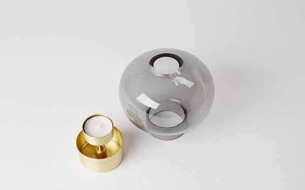 Nichetto Studio for Mjölk is part of Copper Home Accessories Tea Lights - Han, a pair of glass containers