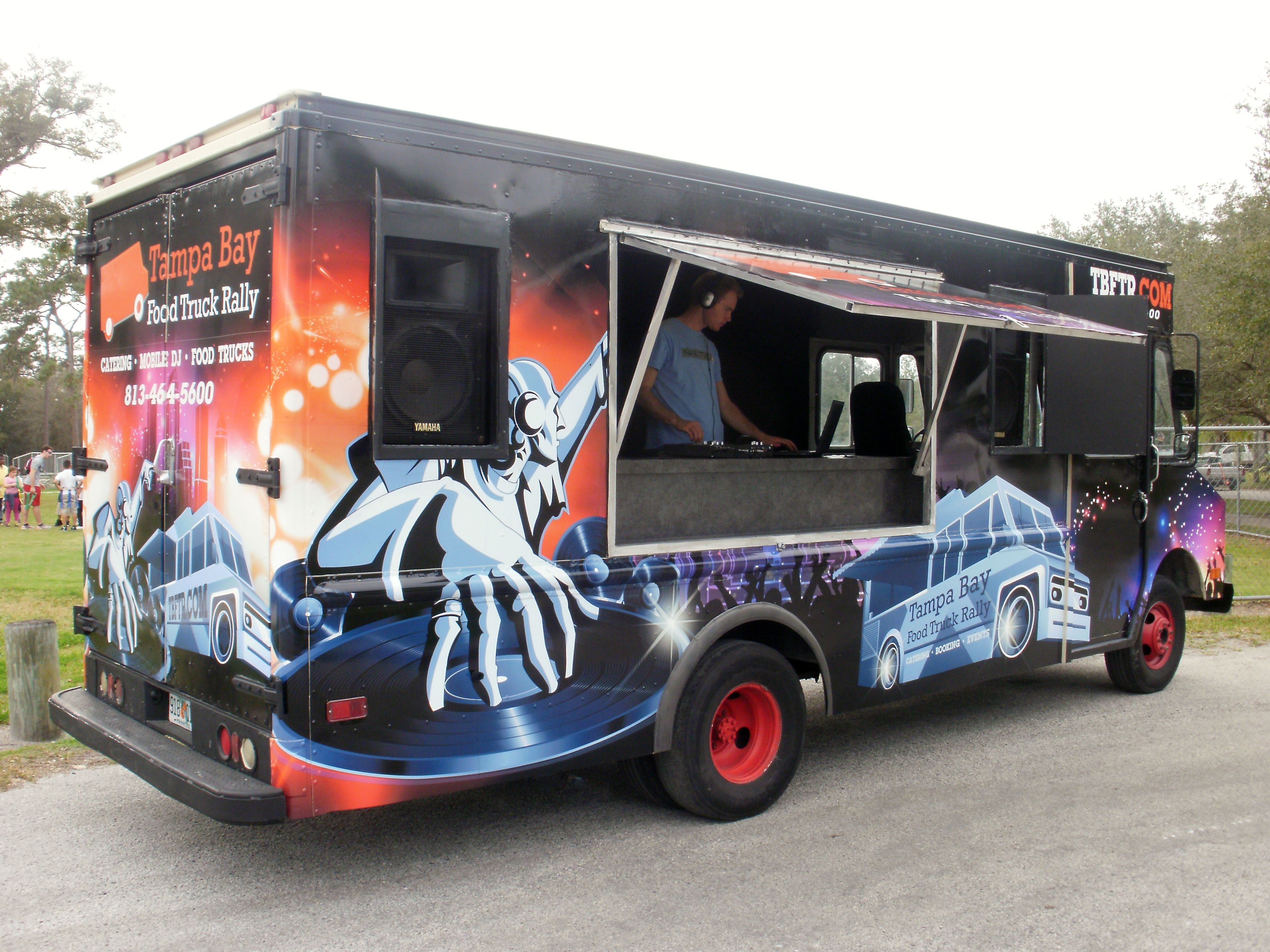 Mobile dj truck trucks car wrap design mobile party