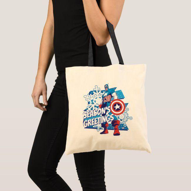 Marvel Classics  Captain America Snow Graphic Tote Bag #affiliate , #AFFILIATE, #Snow, #America, #Tote, #Graphic, #Marvel