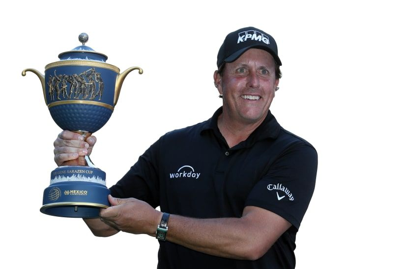 Mickelson breaks through at wgcmexico phil mickelson
