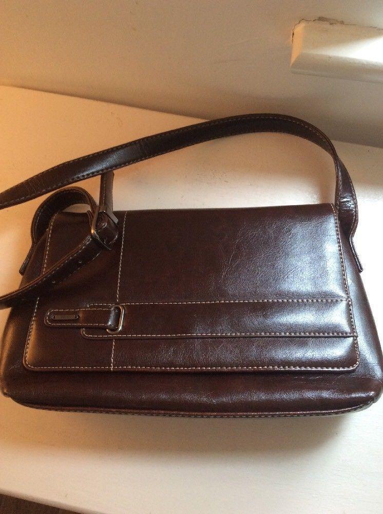 Jane Shilton Sw6 London Brown Leather Handbag Medium Size Ebay