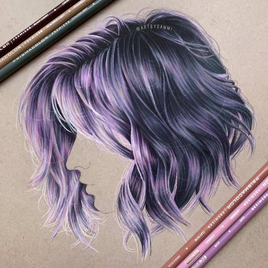 By Artbysammi Art Artsgratia Realistic Hair Drawing Drawing Artwork Hair Art