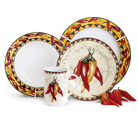 Chili Pepper Themed Dishware L Dishware Stuffed Peppers Chili