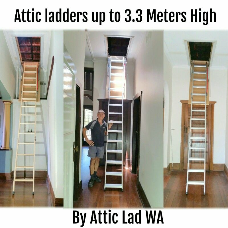 Attic Lad Wa Is Your One Stop Shop For Attic Loft Ladders For High Ceilings Loft Ladder Ladder Attic Storage