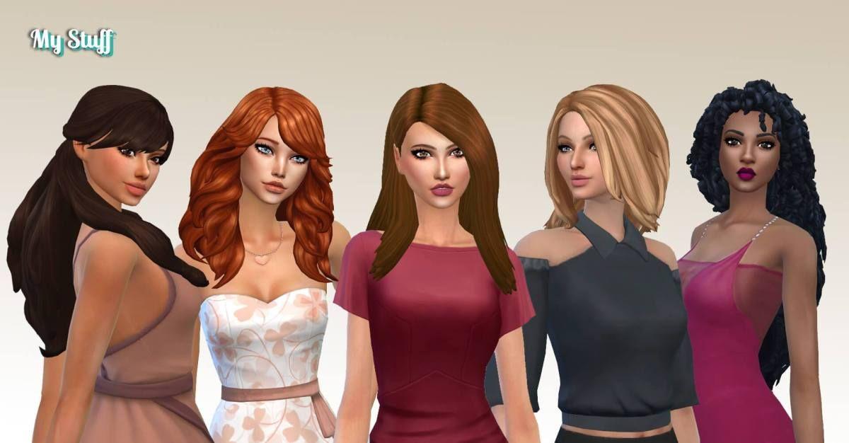 Female Long Hair Pack 22 Long Hair Styles Hair Pack Sims Hair
