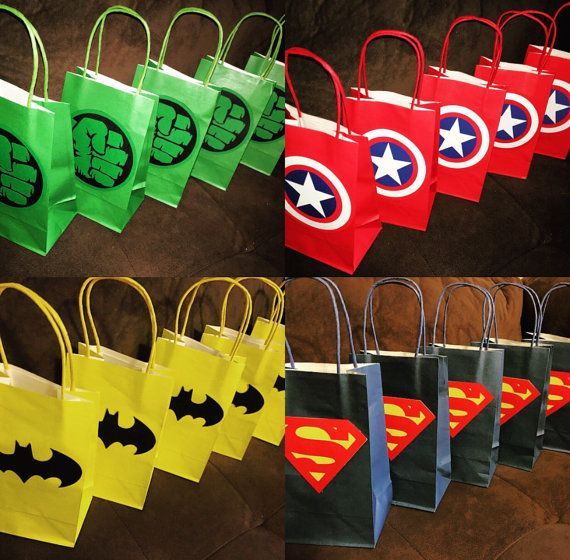 Superhero Party Gift Favor Bags By Bellaevents On Etsy