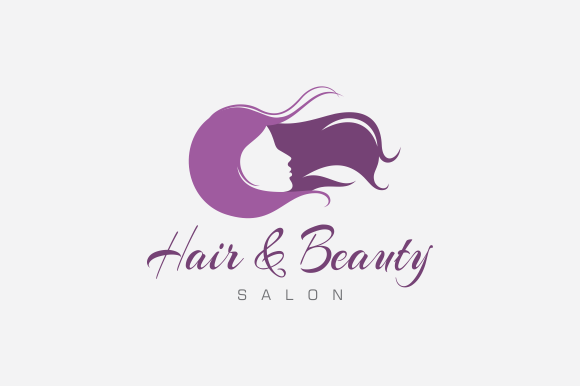 check hair & beauty salon logo